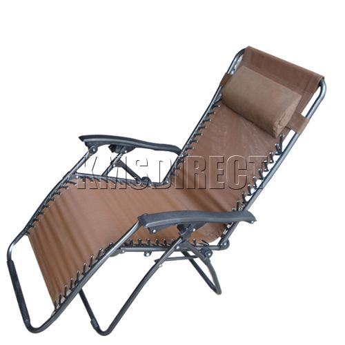 Brown Zero Gravity Garden Reclining Recliner Relaxer Lounger Lounge Chair New