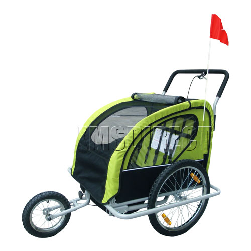 New Double Kids Child Bike Bicycle Cycle Trailer Children Carrier