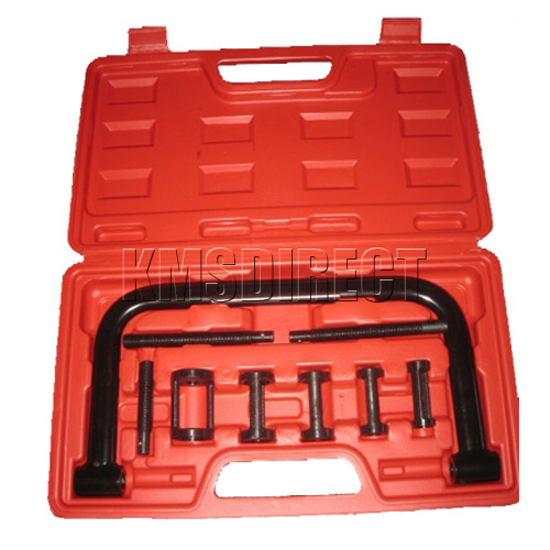 New 5 in 1 10PCs Valve Spring Compressor Tool Kit Set For Cars Motorcycles Bikes