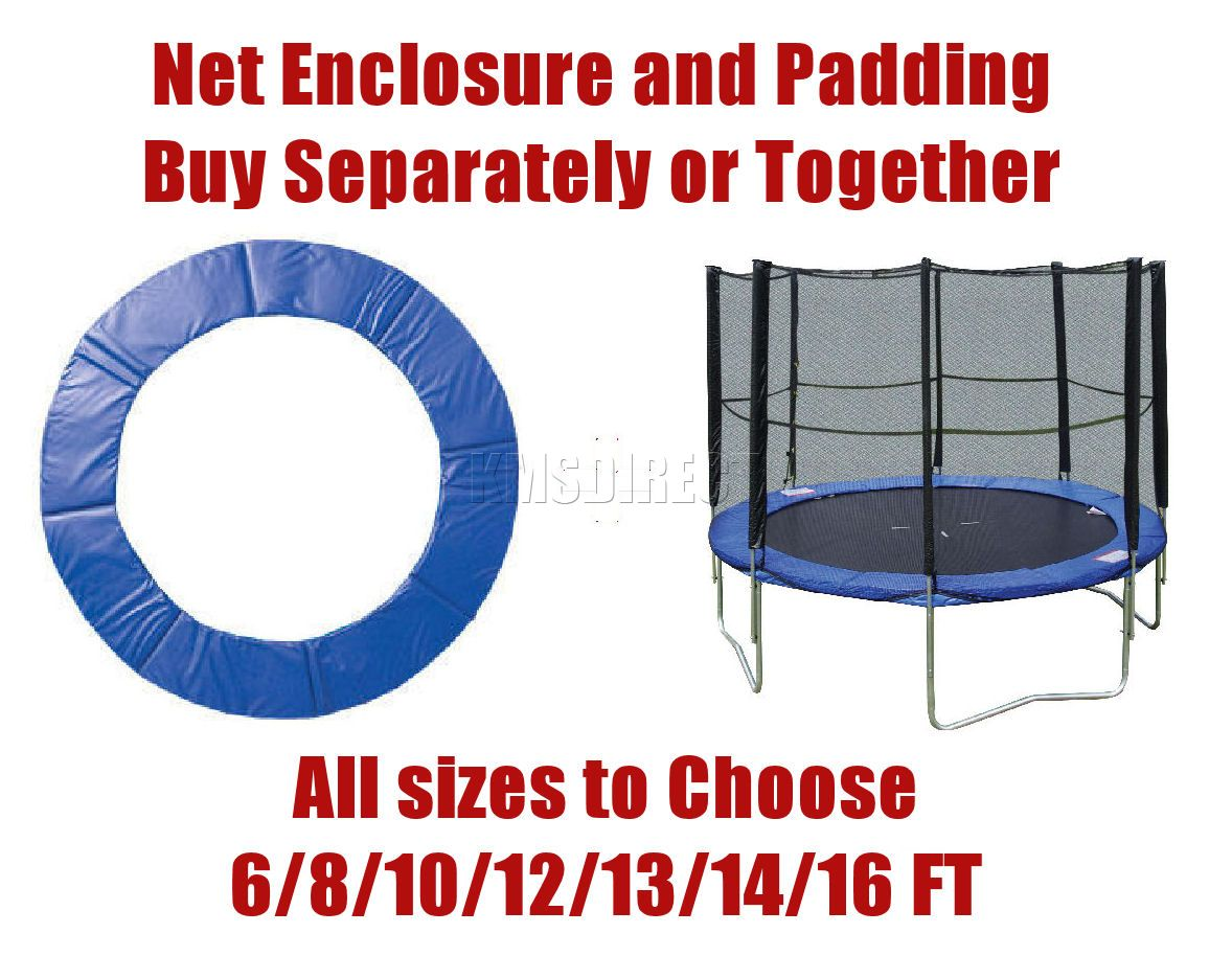 New Trampoline Surround Safety Enclosure Net Pad Padding 6 8 10 12 13 14 16 FT