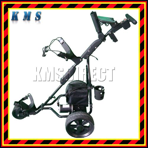Spare Repair 12V Lightweight 3 Wheel Aluminium Electric Push Pull Golf Trolley Enlarged Preview