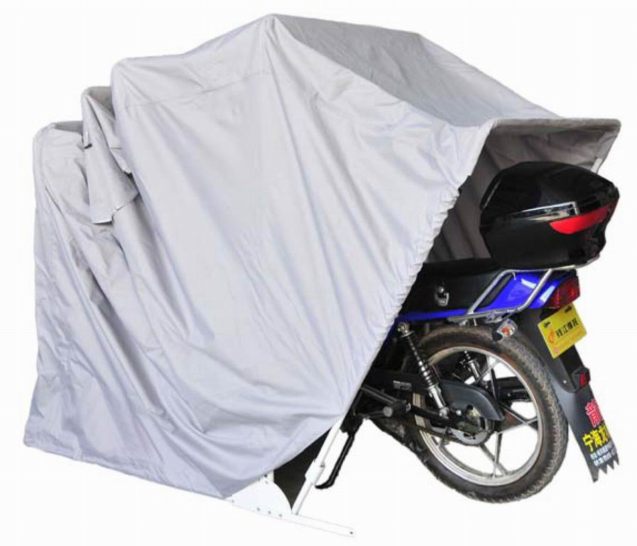 New motor bike folding cover storage shed waterproof outdoor tent garage medium ebay - Motorcycle foldable garage tent cover ...