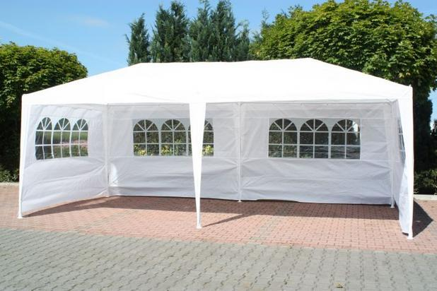 New 3m x 6m White Waterproof Outdoor Garden Gazebo Party Tent Marquee Canopy
