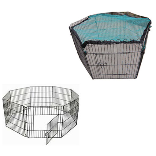 Dog Puppy Cat Rabbit Guinea Pig Pet Play Pen Run Metal Cage Playpen New All Size