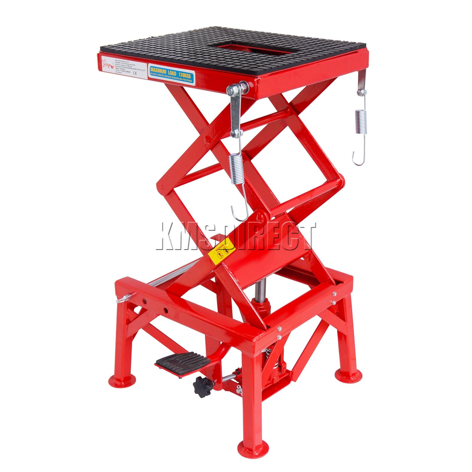 Heavy Duty Hydraulic Lifts : Heavy duty hydraulic lbs scissor motor bike atv quad