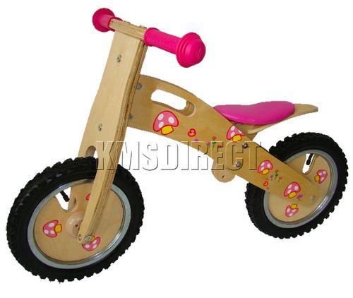 Cycle Mushroom Boys Girls Wooden Balance Walking Bike First