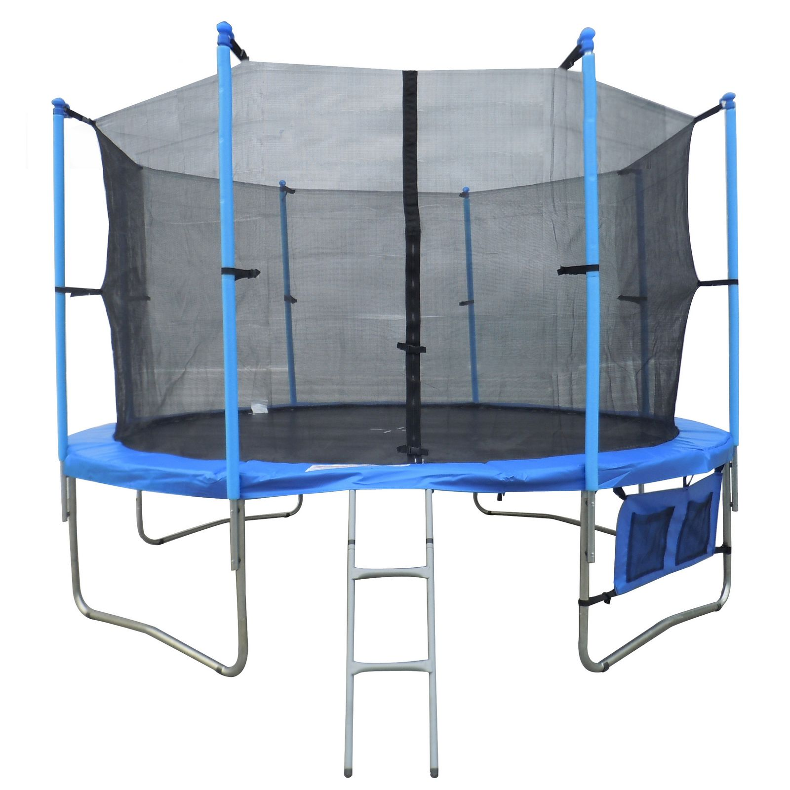 12ft FT Trampoline with Ladder Net Enclosure Safety Padding Weather Cover