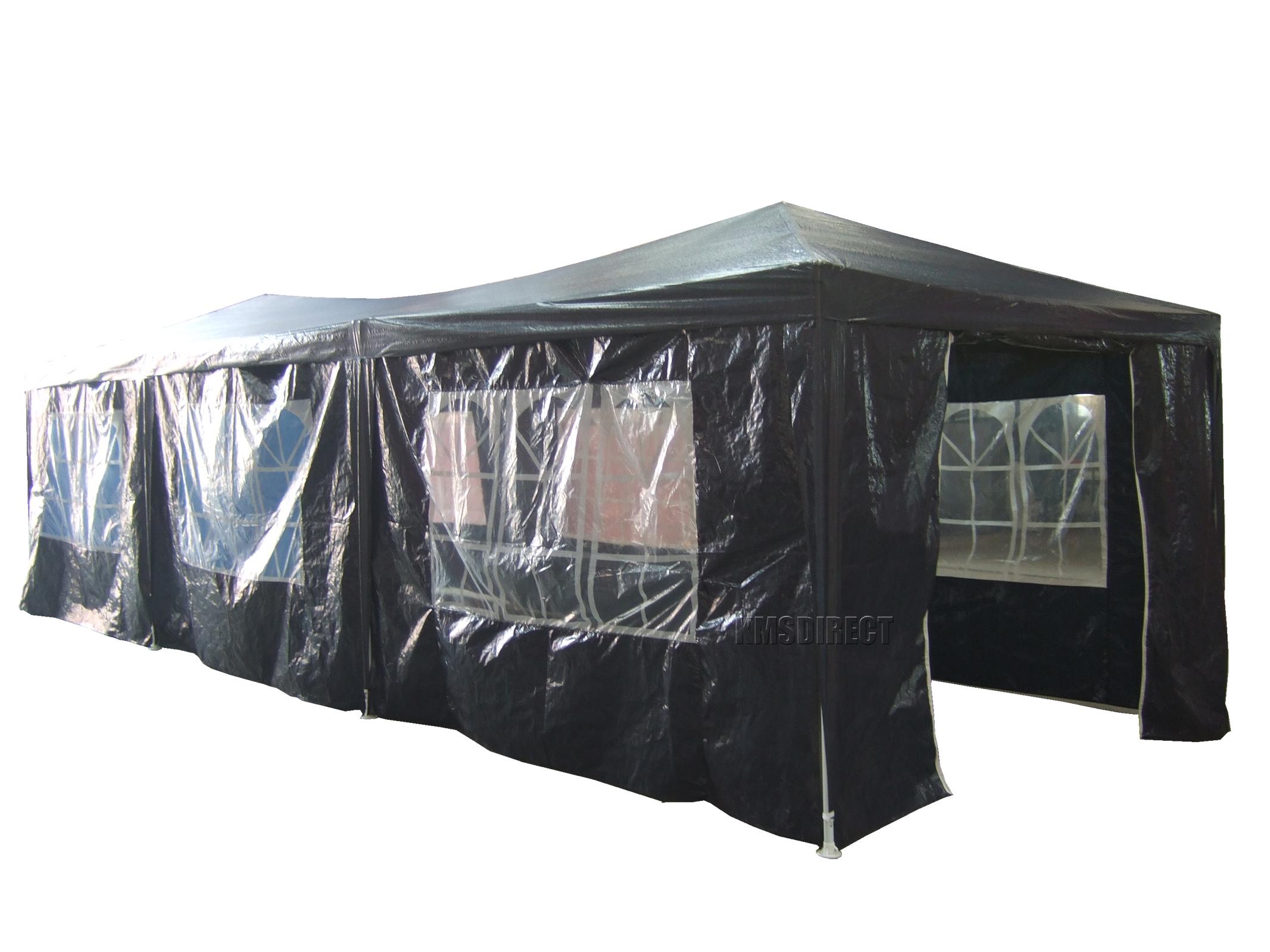 FoxHunter 3M x 3M 4M 6M 9M PE Gazebo Waterproof Garden