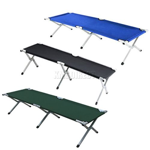 New heavy duty super light folding camp camping bed aluminium frame steel legs ebay - Camif bed frame ...