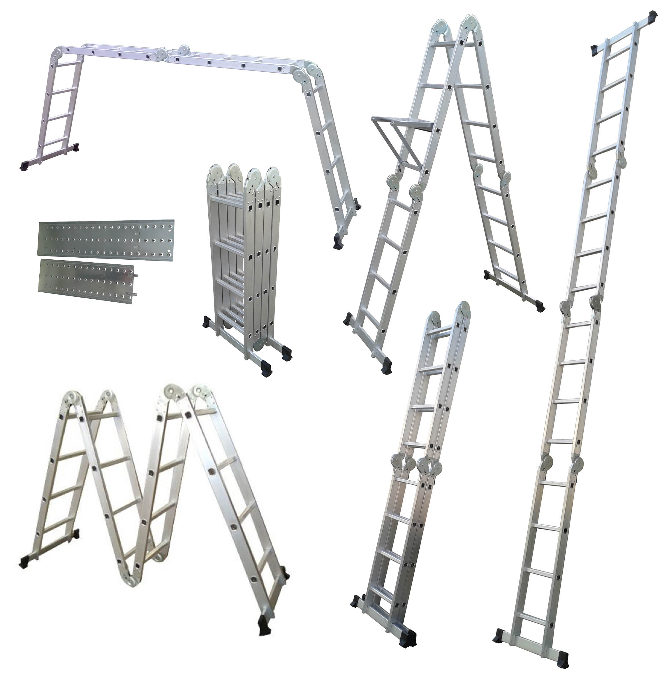 Multi Purpose 14 In 1 4 75m Scaffold Step Aluminium Ladder