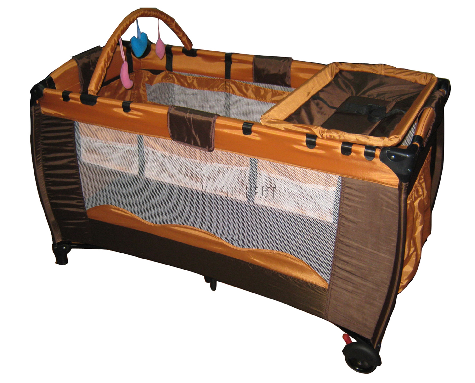 infant baby child travel bed cot bassinet play pen playpen with  - thumbnail