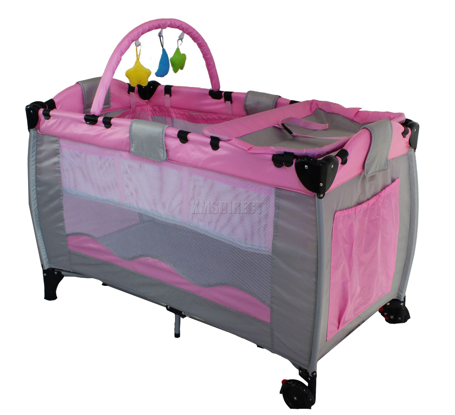 Baby Travel Toys : Pink infant baby child travel bed cot bassinet play pen