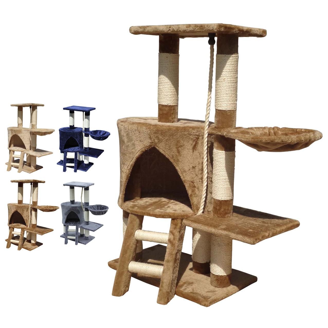 kitten cat tree scratcher scratching post sisal climbing toy activity centre bed ebay. Black Bedroom Furniture Sets. Home Design Ideas