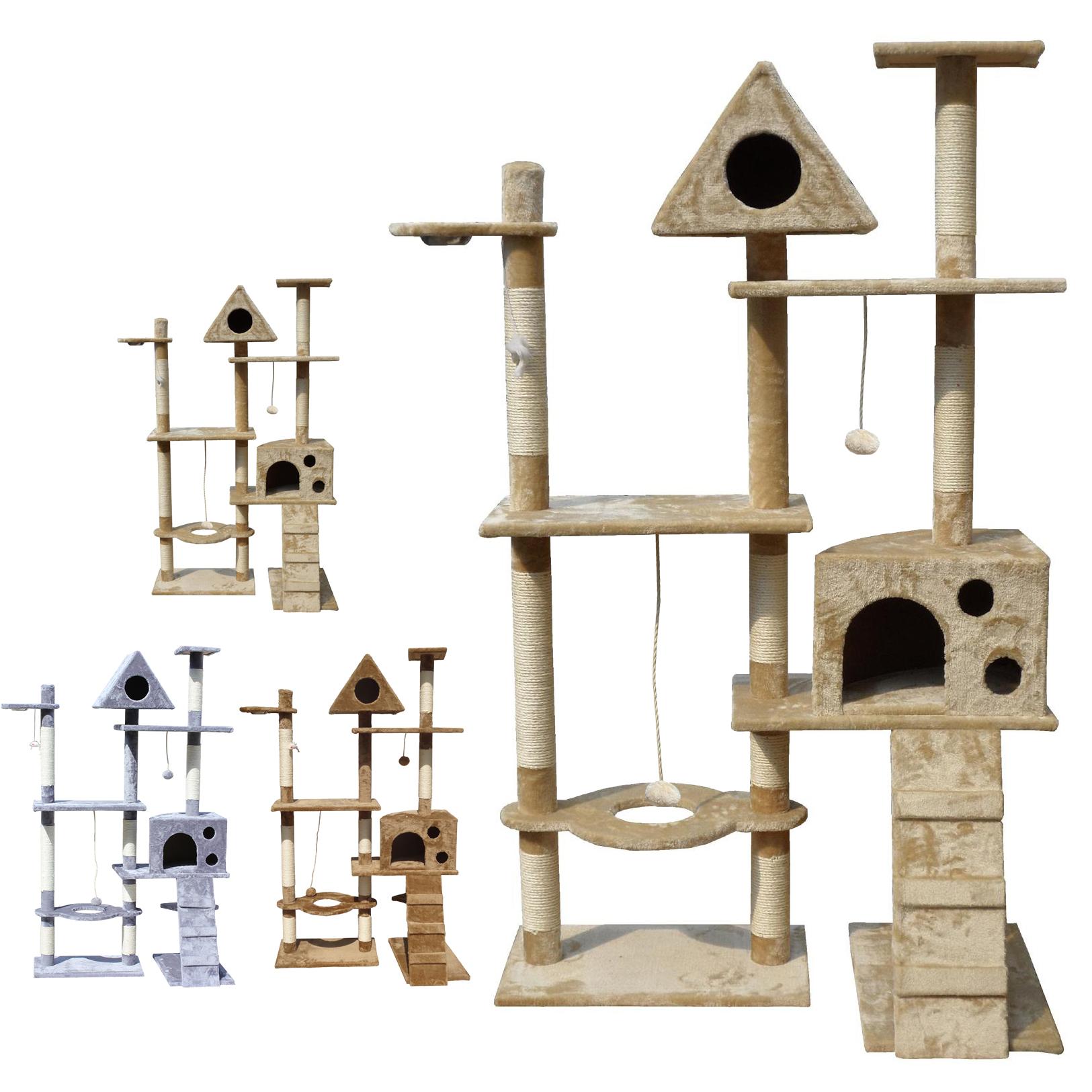 Kitten Cat Tree Scratcher Scratching Post Sisal Climbing Toy Activity Centre Bed Ebay