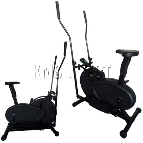 New Exercise Bike Elliptical Cross Trainer Cycle Cardio Fitness Workout Machine Ebay