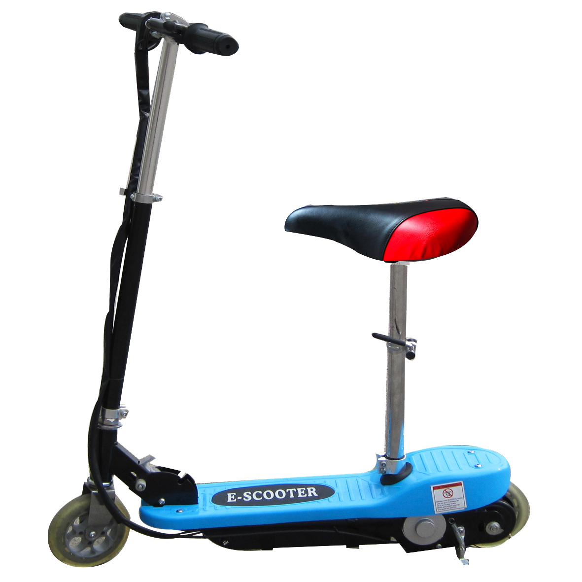 Kids Sky Blue Electric Scooter 120w 24v Battery Escooter