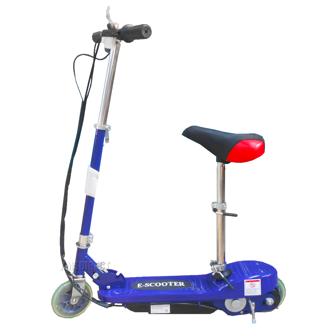 Blue 120w 24v Kids Ride On Electric Scooter Escooter With