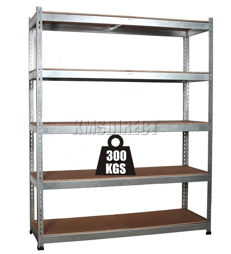 heavy duty 5 tier boltless galvanised garage storage. Black Bedroom Furniture Sets. Home Design Ideas