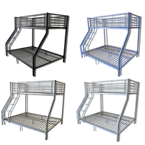 Single double triple children metal sleeper bunk beds for Single bunk bed frame