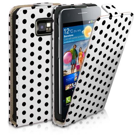 Polka-Dot-Flip-Leather-Case-For-Samsung-Galaxy-S2-i9100-Film