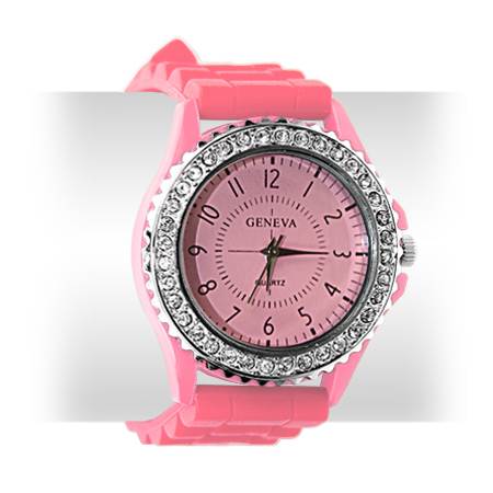 7-COLOR-LADY-BLING-CRYSTAL-SILICONE-BRACELET-SPORT-WATCH