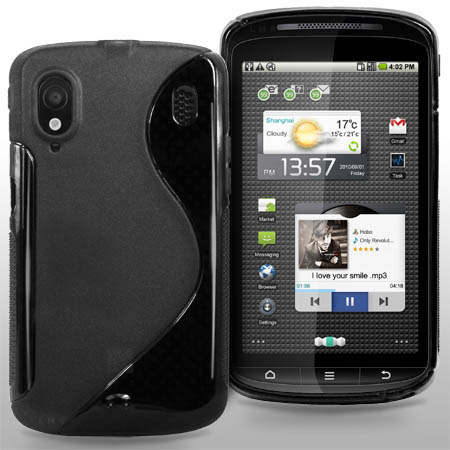 S Line Wave Gel Case Cover For Orange Monte Carlo / ZTE Skate + Screen Protector Enlarged Preview