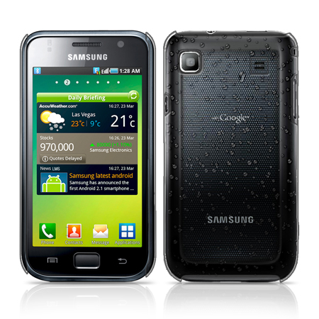 3D RAIN DROP DESIGN HARD CASE COVER FOR SAMSUNG GALAXY S PLUS i9001/i9000 + FILM Enlarged Preview
