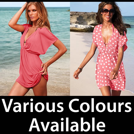 Sexy Kaftan Beach Wear Swimwear Nylon Bikini Cover Up Summer Dress Enlarged Preview