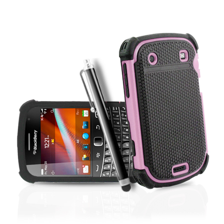 HYBRID SILICONE CASE COVER FOR BLACKBERRY BOLD 9900 / 9930 + STYLUS TOUCH PEN Enlarged Preview