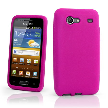 Soft Silicone Case Cover For Samsung I9070 Galaxy S Advance + Screen Protector Enlarged Preview