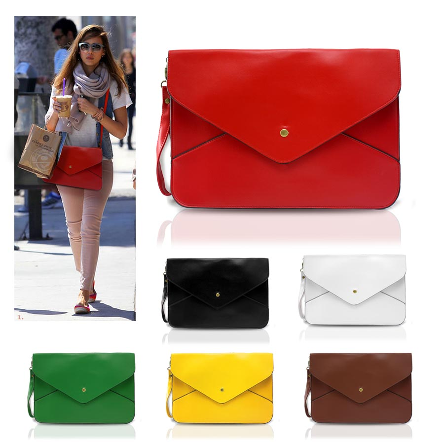 Large Stylish Envelope Patent Clutch Bag/Shoulder Bag available in ...