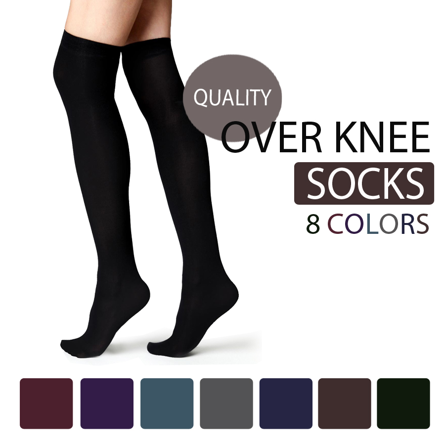 THIGH HIGH OVER THE KNEE SOCKS VARIOUS COLOURS AVAILABLE SIZES 4-7