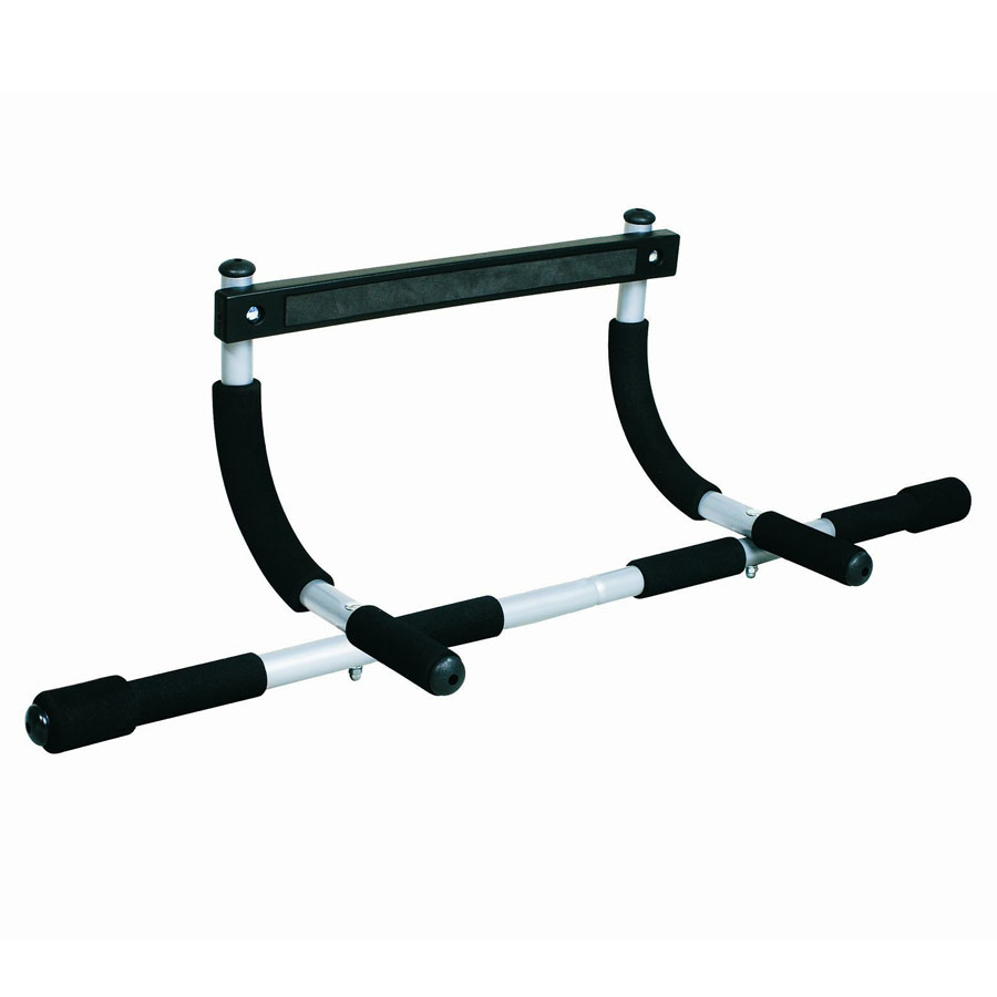 Nxis door exercise gym bar chin ups pull ups sit up push for Door pull up bar