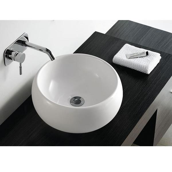 Contemporary Modern Round Ceramic Cloakroom Basin Bathroom Sink eBay