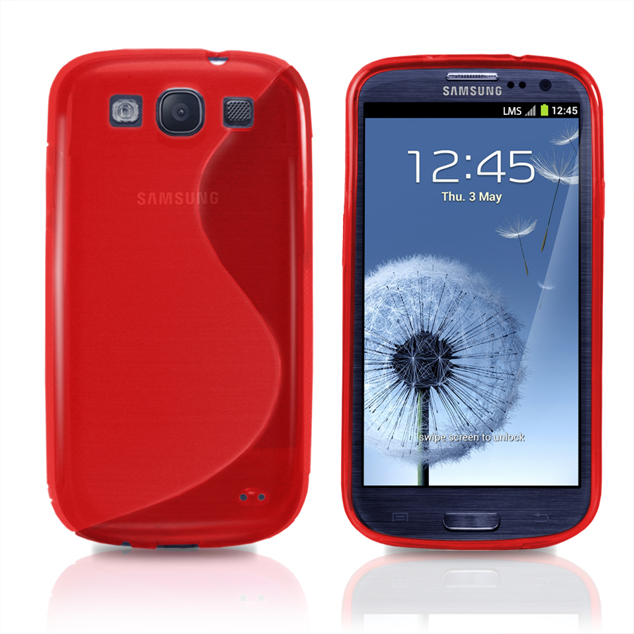 Rouge s vague ligne gel housse pour samsung i9300 galaxy for Housse samsung galaxy s3