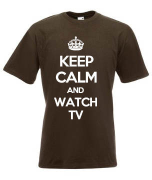 Keep-Calm-And-Watch-TV-T-Shirts-Small-to-XXXL-Various-Colours