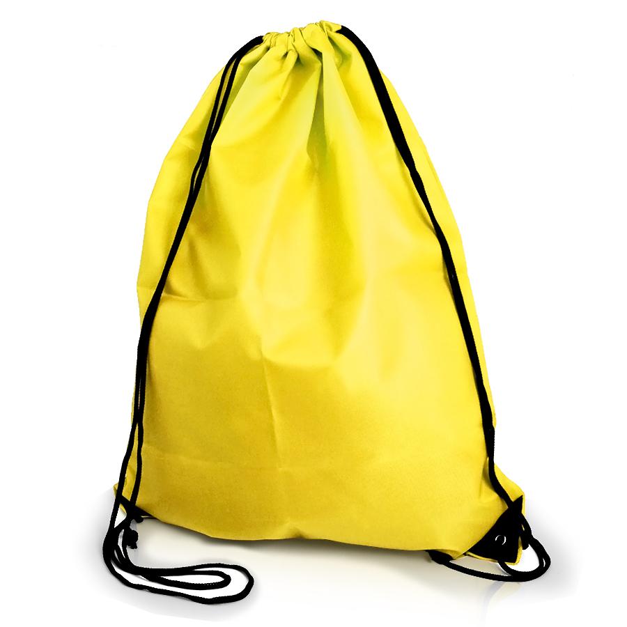 Gym Swim School Dance Shoe Boot PE Drawstring Bag - Yellow