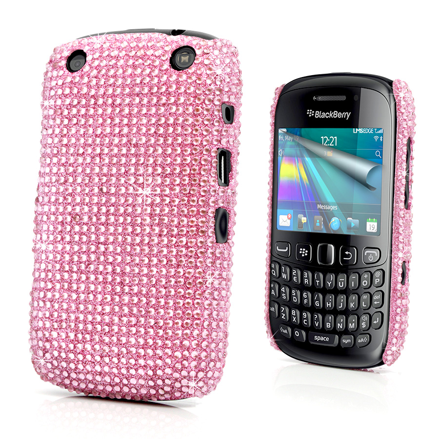 Diamante Bling Case Cover For BlackBerry 9320 Curve 9320 + Screen Protector Enlarged Preview