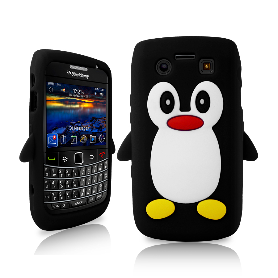 black penguin soft silicone case for blackberry 9700 bold. Black Bedroom Furniture Sets. Home Design Ideas