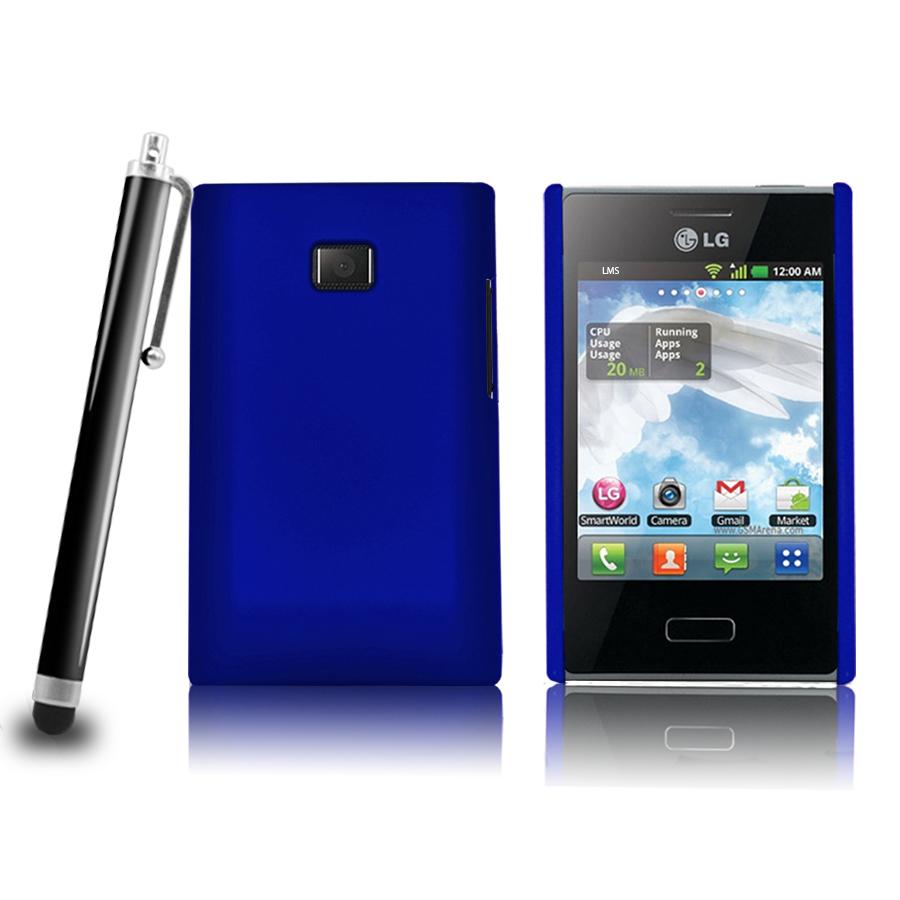 LG phone cases for lg l38c : Red Hybrid Hard Case Cover For Lg E400 Lg Optimus L3 Film Stylus