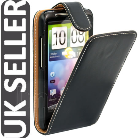Black Executive Flip Leather Case II For HTC Desire HD Enlarged Preview