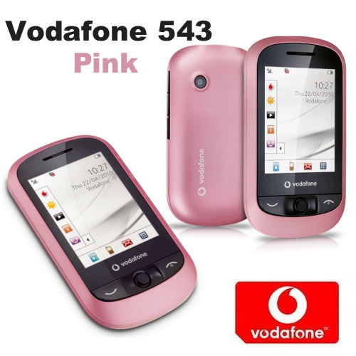 Vodafone 543 Pink Touchscreen Mobile Phone on Vodafone VF543 Pay as you go PAYG Enlarged Preview