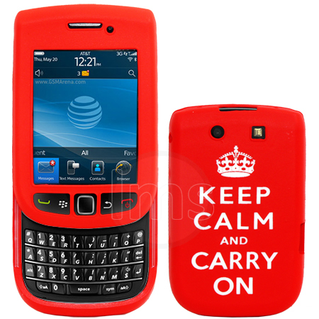 BLACKBERRY TORCH 9800 KEEP CALM &CARRY ON SILICONE CASE Enlarged Preview