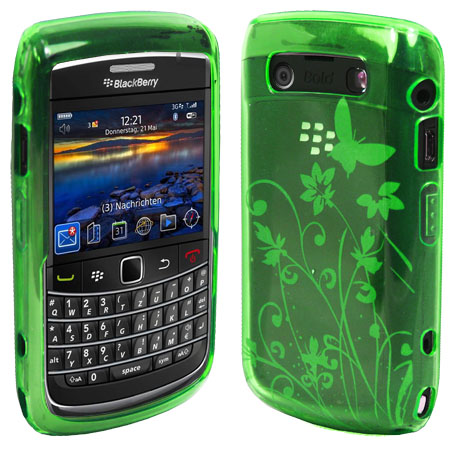 Magic Store - Green Floral Gel Case Cover Blackberry Bold 9700 9780