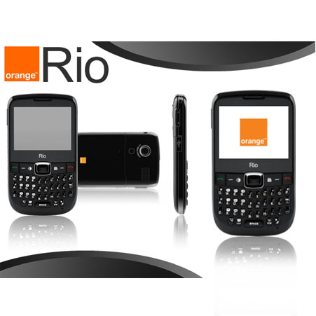 orange rio ii black on orange payg mobile phone ebay. Black Bedroom Furniture Sets. Home Design Ideas