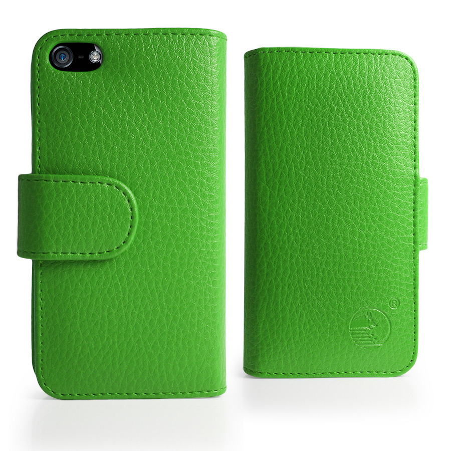 Iphone 5s Green Case Green wallet leather case