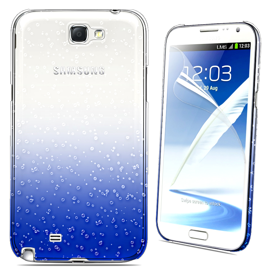 3D RAIN DROP DESIGN HARD CASE COVER For Samsung N7100 Galaxy Note II + Film Enlarged Preview