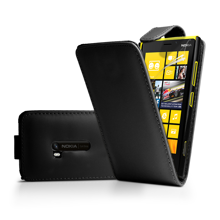 Flip Leather Case Cover for Nokia 920 Lumia 920 + Screen Protector