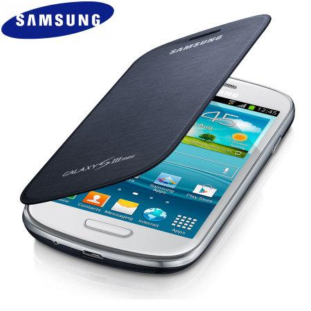 Genuine Samsung Galaxy S3 Mini Leather Flip Case EFC 1M7FBEC   Pebble