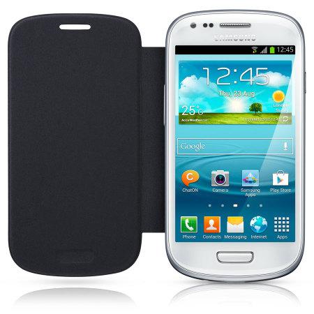 premium selection f6d5b 3680b Genuine Samsung Galaxy S3 Mini Leather Flip Case EFC 1M7FBEC Pebble ...